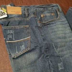Mens New Javino Blue Jean's Straight Leg 42W 32L